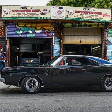 #42, Dodge, Charger, New York, Bullitt, Muscle-Car