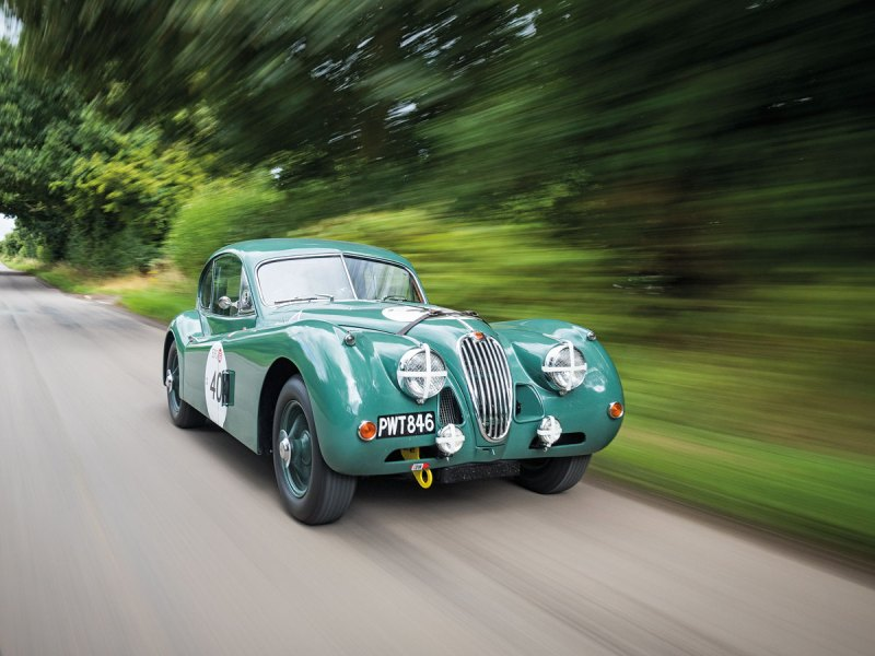 #28, Jaguar, XK140 DHC, Rennwagen, Le Mans
