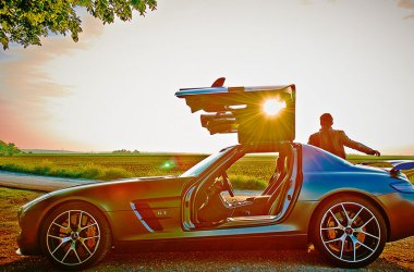 SLS AMG Final Edition in der Abendsonne