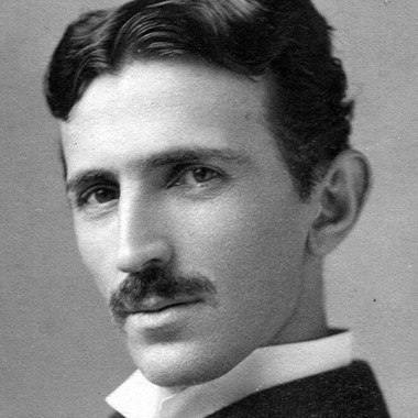 Nikola Tesla im Profil, circa 1890