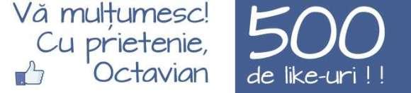 500 de likes pentru pagina mea de Facebook