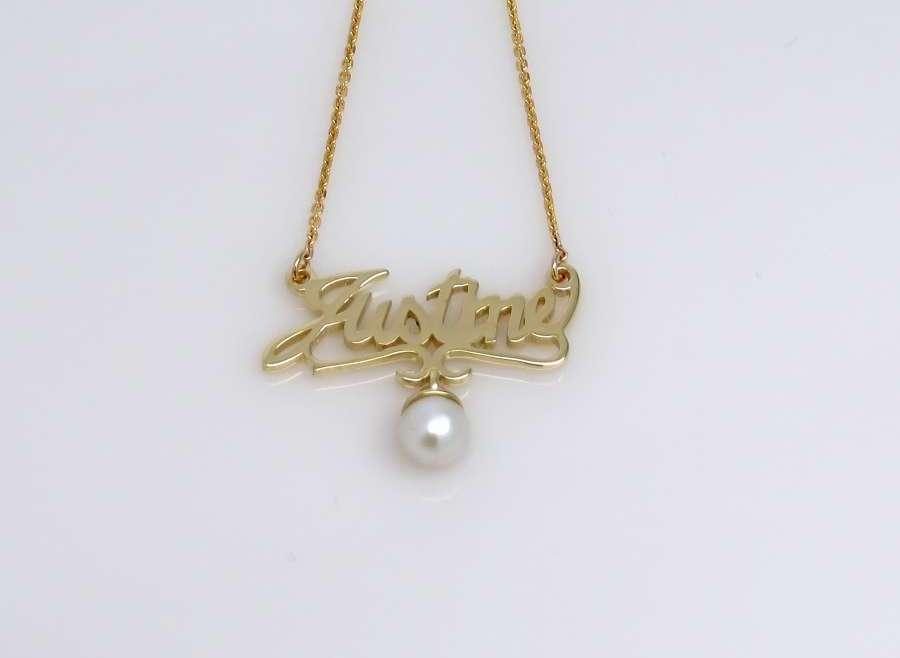 Pendentif nom/perle