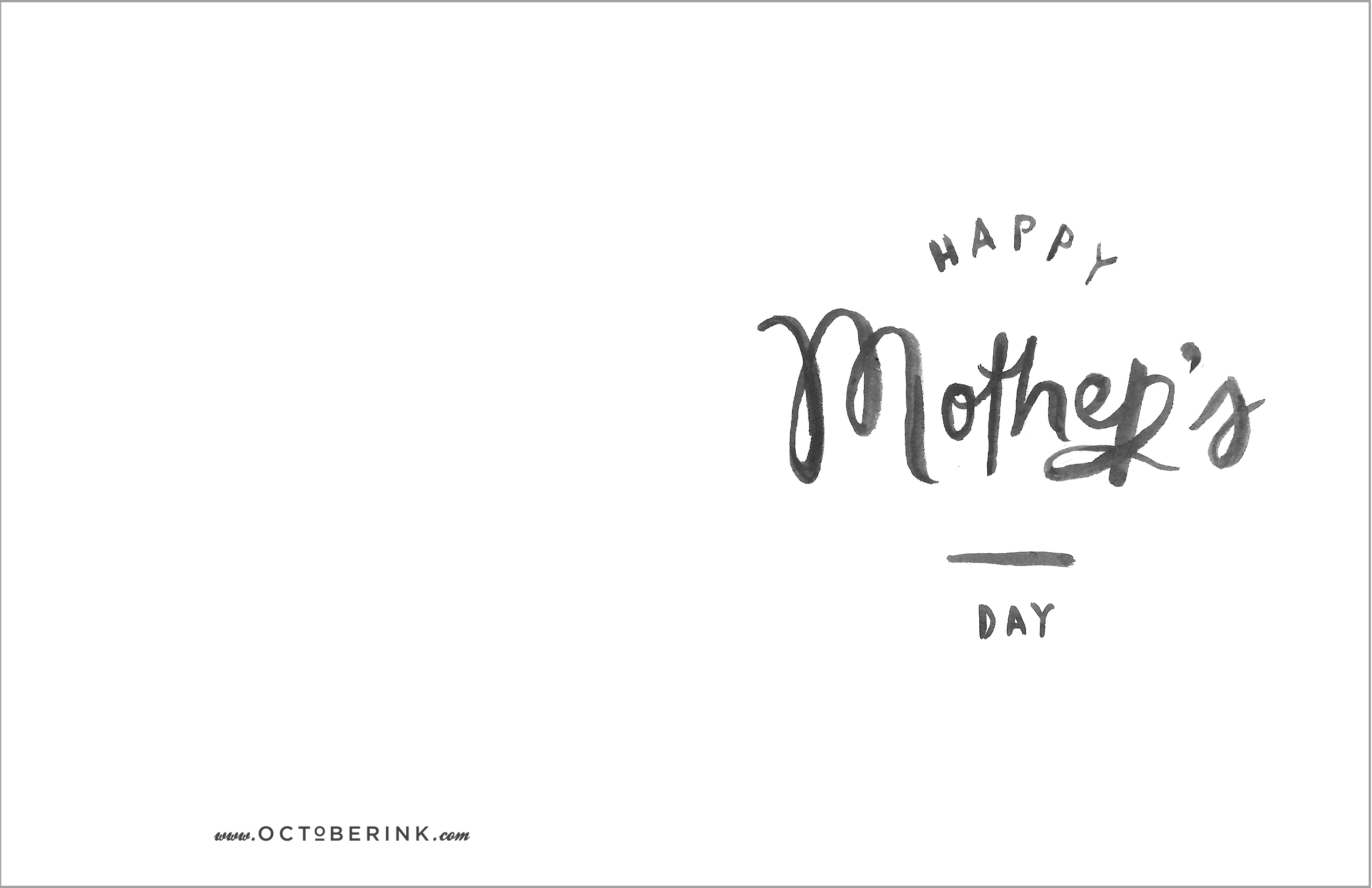 October Ink Free Mother S Day Printables
