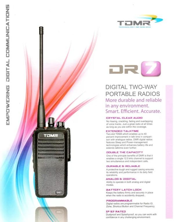Portable Walkie Talkie TDMR-DR7