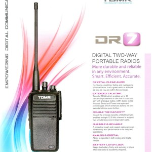 Portable Walkie Talkie TDMR-DR7