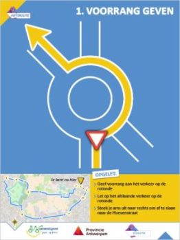 verkeerseducatieve route instructiebord
