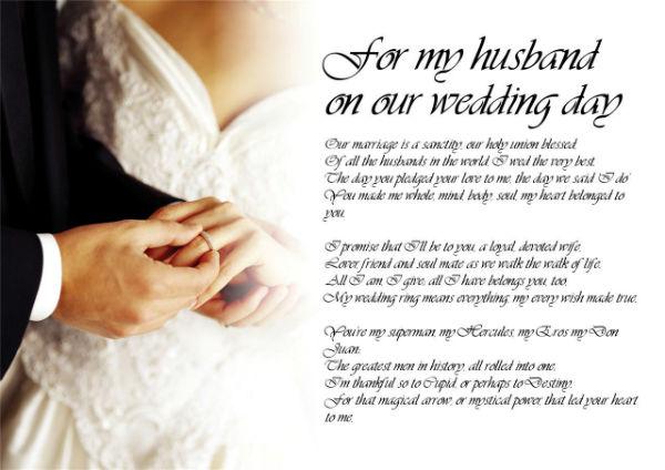 Husband Poem Day Wedding
