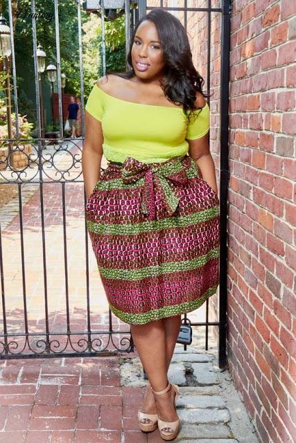 8fc37f4e7a6 ankara skirt styles for plus size beautiful ankara skirt styles for chubby  ladies -  Od9ja