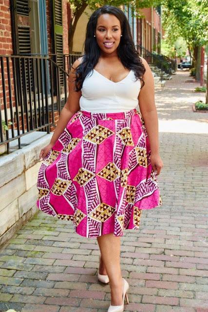 24c94b38982 Beautiful Ankara Skirt Styles For Chubby Ladies