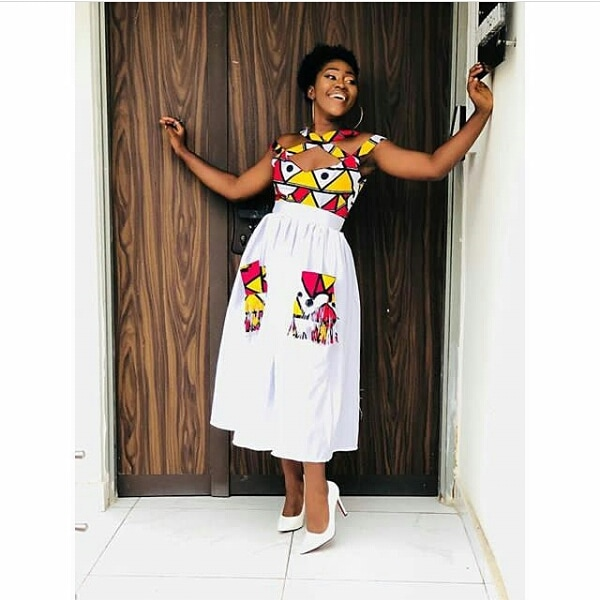 see these latest collection of ankara gown styles for cute ladies - Ankara Styles 2018 Ankara Skirt and Blouse Ankara Tops Gowns skirt blouse Trouser Style Ankara Aso ebi Tops Many More African Print Fashion 22 - SEE THESE LATEST COLLECTION OF ANKARA GOWN STYLES FOR CUTE LADIES