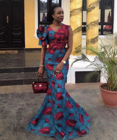 African ankara styles gown