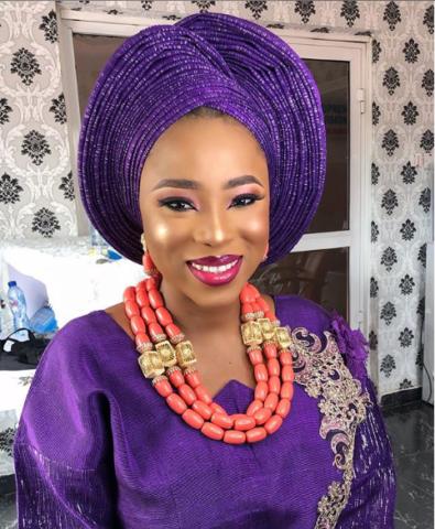 bridal makeup gele and make-up styles - Nigerian Gele and Make up Styles od9jastyles 9 - Nigerian Gele and Make-up Styles
