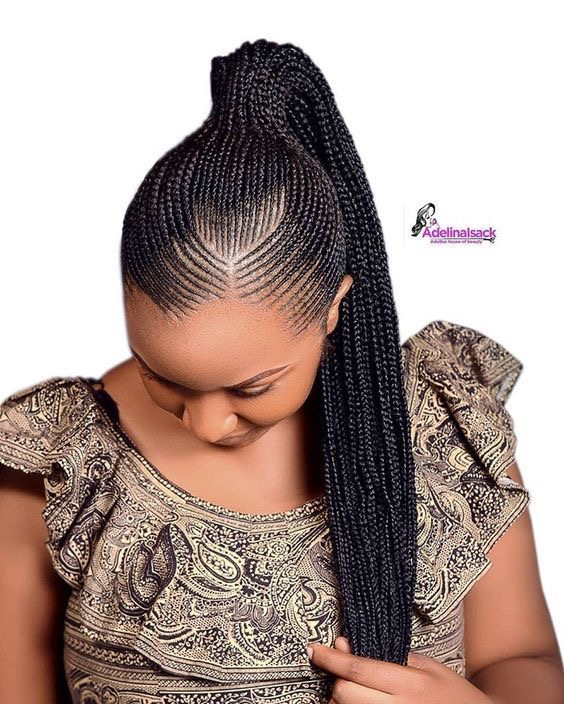 Best 2019 African Braided Hairstyles : Super Cute And