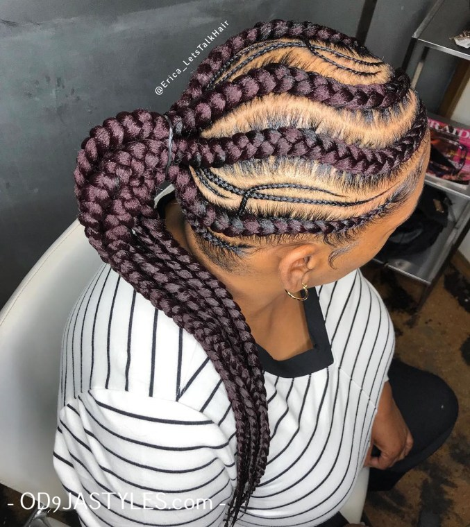 Braided Hairstyles for Black Womenn 2020 braided hairstyles for black women - braided hairstyles for black women 2 - Hottest Braided Hairstyles for Black Women: Creative African Styles for 2020
