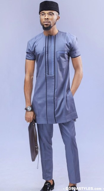 Native Casual Dress Outfits for Nigerian Men native casual dress outfits for nigerian men - Native Casual Dress Outfits for Nigerian Men 5 351x640 - Smart Native Casual Dress Outfits for Nigerian Men