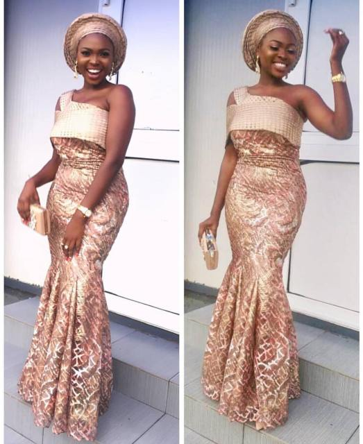 Gold Lace AsoEbi Dresses gold lace asoebi styles - 37105189 896168240570075 6974408748420825088 n 523x640 - These 25 Gold Lace AsoEbi Dresses Are Nothing But Stunning and Gorgeous