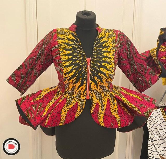 Peplum Skirt and Ankara Blouse Styles peplum skirt and ankara blouse styles - Peplum Skirt and Ankara Blouse Styles 27 640x613 - 45 Elegant and Stylish Ways To Rock Your Peplum Skirt and Ankara Blouse Styles