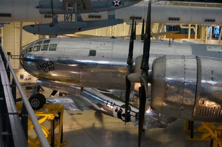 The 'Enola gay' in the Udvar-Hazy Museum near Washington D.C.