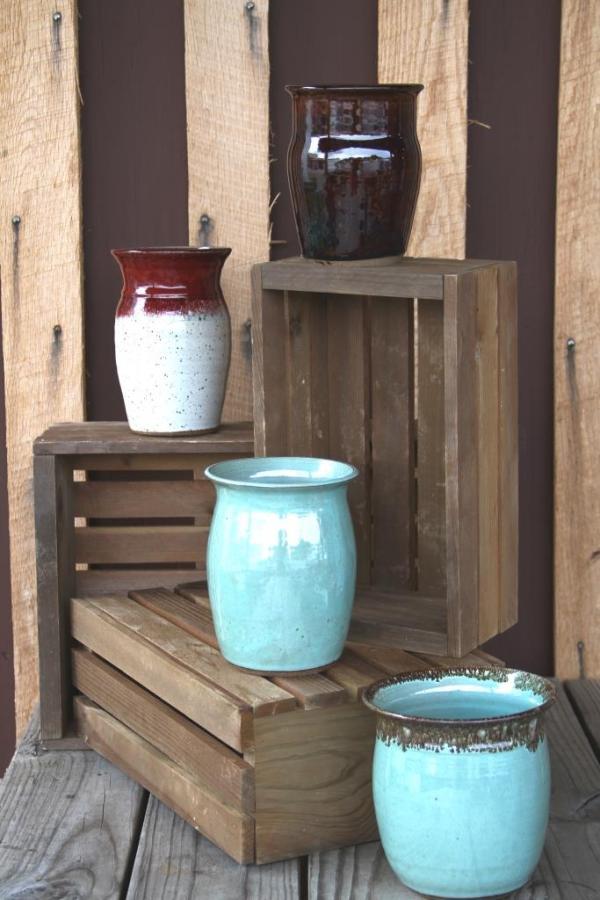 Vases/Utensil Canisters from Oddbowlz Ceramics