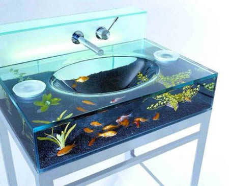 15 Most Creative Sinks   cool sinks  aquarium sink   Oddee 1Aquarium sink