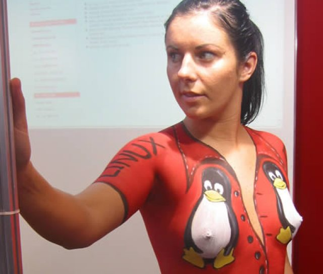 For All The Linux Lovers Around The World Body Painting Wedding