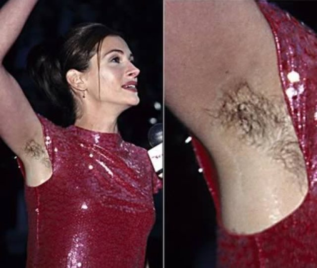 Its None Other Than Julia Roberts Armpit Hair Confidently Waving At The Grammy Awards