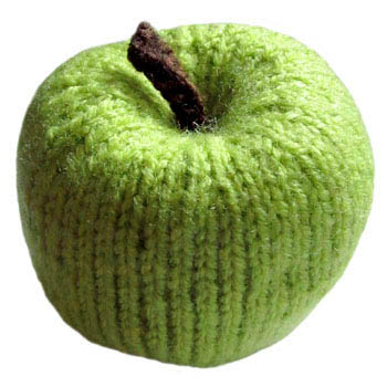 Knitted Green Apple