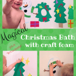Magic Christmas Bath Fun craft foam kids craft christmas