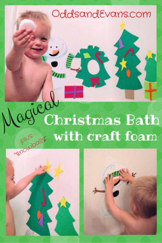 Magic Christmas Bath Fun craft foam christmas craft for kids