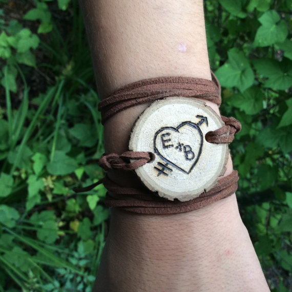 custom wood-burned diffuser bracelet lowcountry eclectic