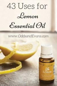 43 uses for lemon essential oil young living- www.OddsandEvans.com