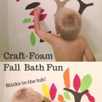 Fall Leaves and Trees Craft Foam Bath Fun Activity for Autumn