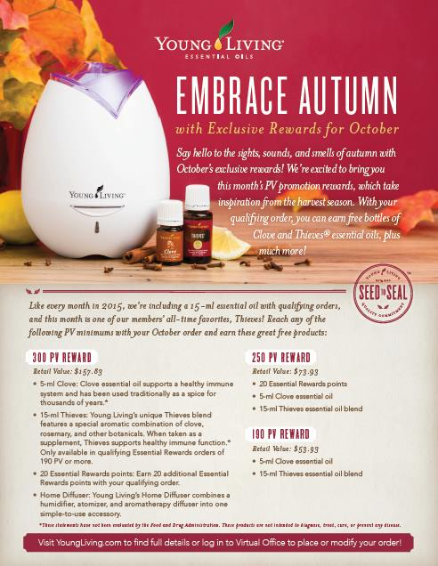 october 2015 promo freebies essential oils young living