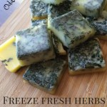 How to freeze fresh herbs in ice cube trays of butter, oil, or broth