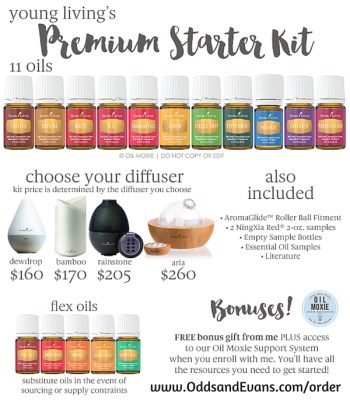 Premium Starter Kit Options Flyer 2015 Young Living Diffuser