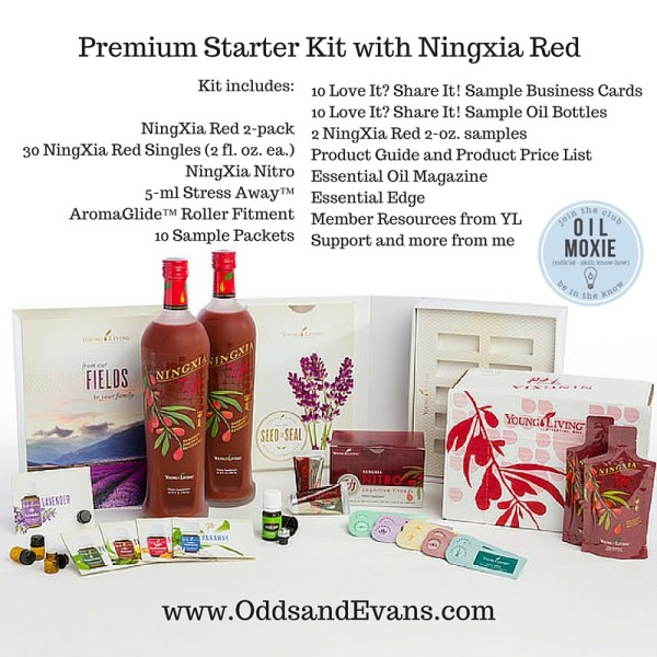 Premium Starter Kit options - with Ningxia Red from Young Living