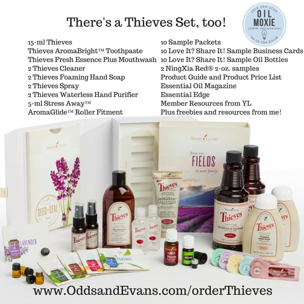 Thieves Premium Starter Kit options from Young Living
