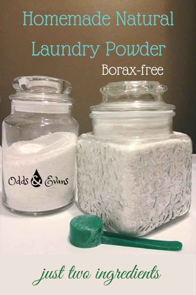 Homemade Laundry Powder Two Ingredients Borax Free