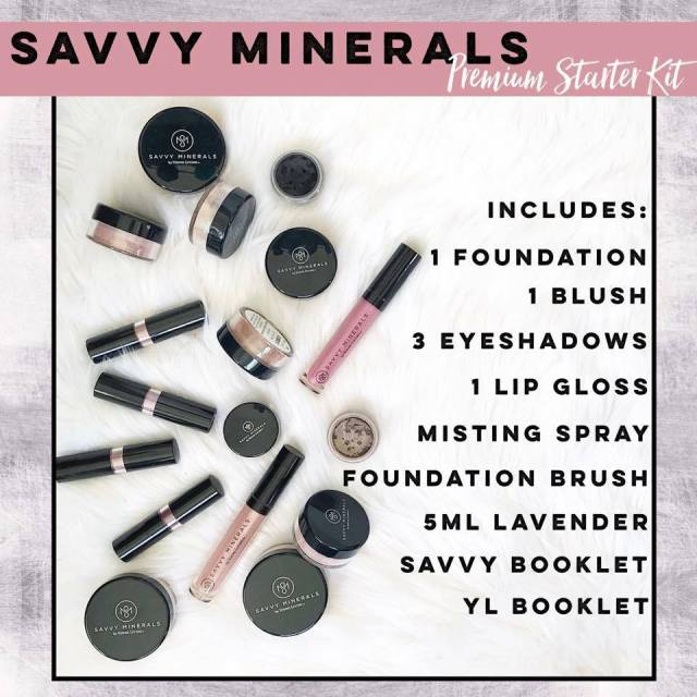 Savvy Minerals New Premium Starter Kit natural makeup cruelty free