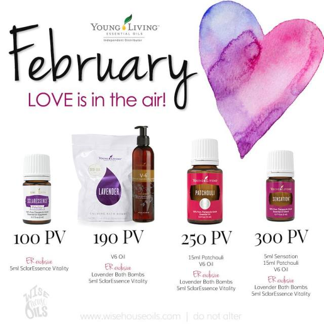 February Love is in the Air Young Living promo freebies free gifts