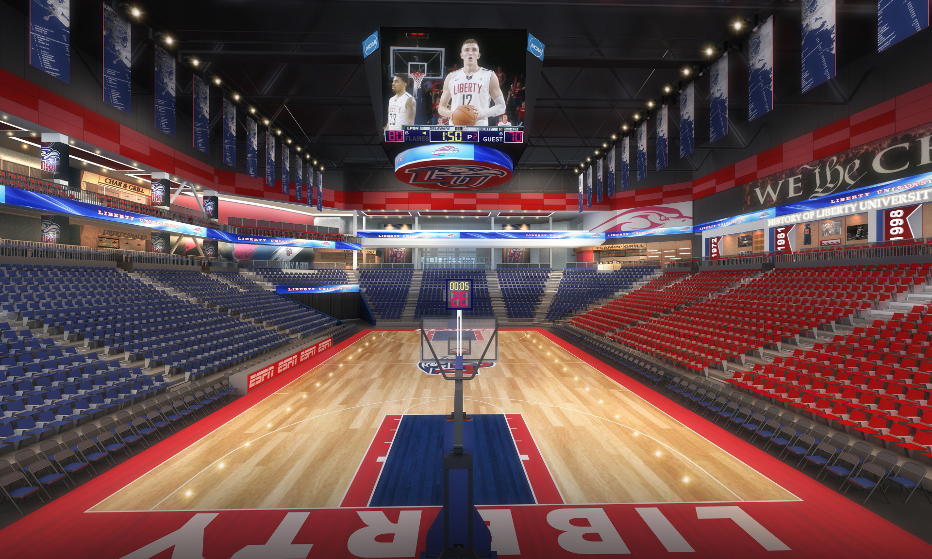 Liberty University Arena Odell Architecture