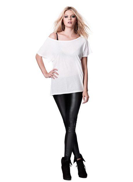 N90 CONTINENTAL Batwing Tunic T-Shirt weiß Lyocell TENCEL