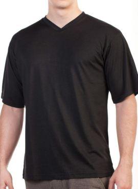 V-Shirt TENCEL™ Lyocell schwarz