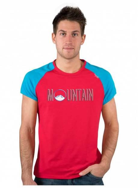 Model wearing CHILLAZ T Shirt Verdon Mountain