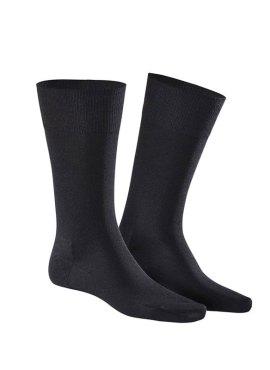 Kunert Longlife Socken black schwarz Lyocell TENCEL