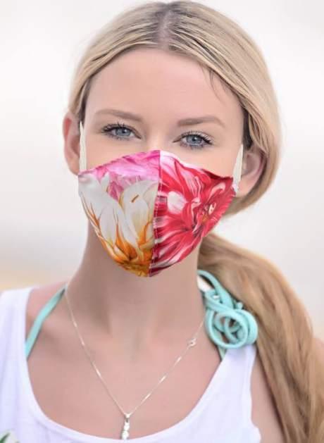 MNS Maske TENCEL ™ Lyocell Floral HEFEL