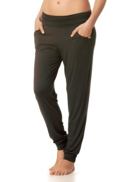 MEY Yogahose lang Lounge MicroModal new black diamond