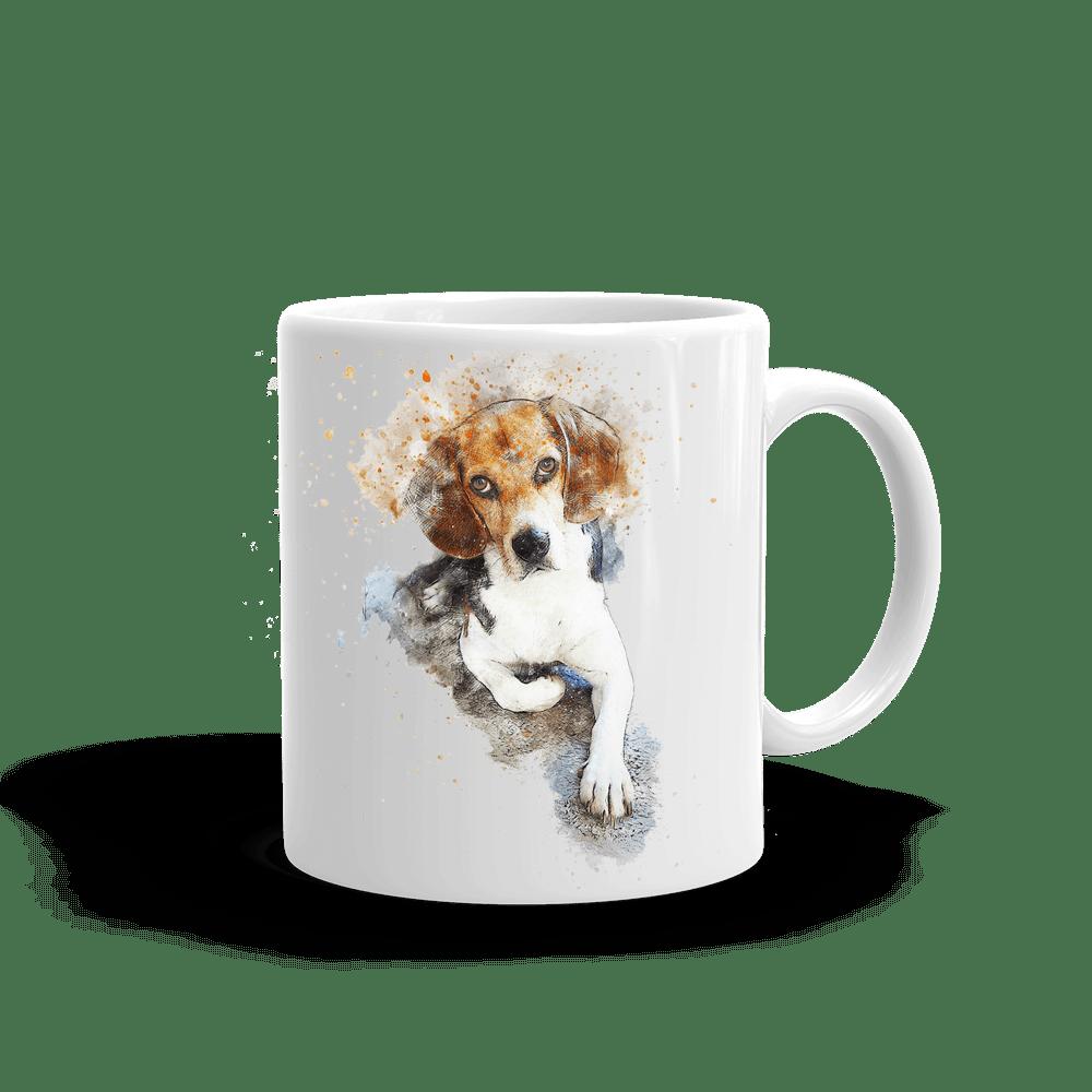 mugg med tryck av en beagle