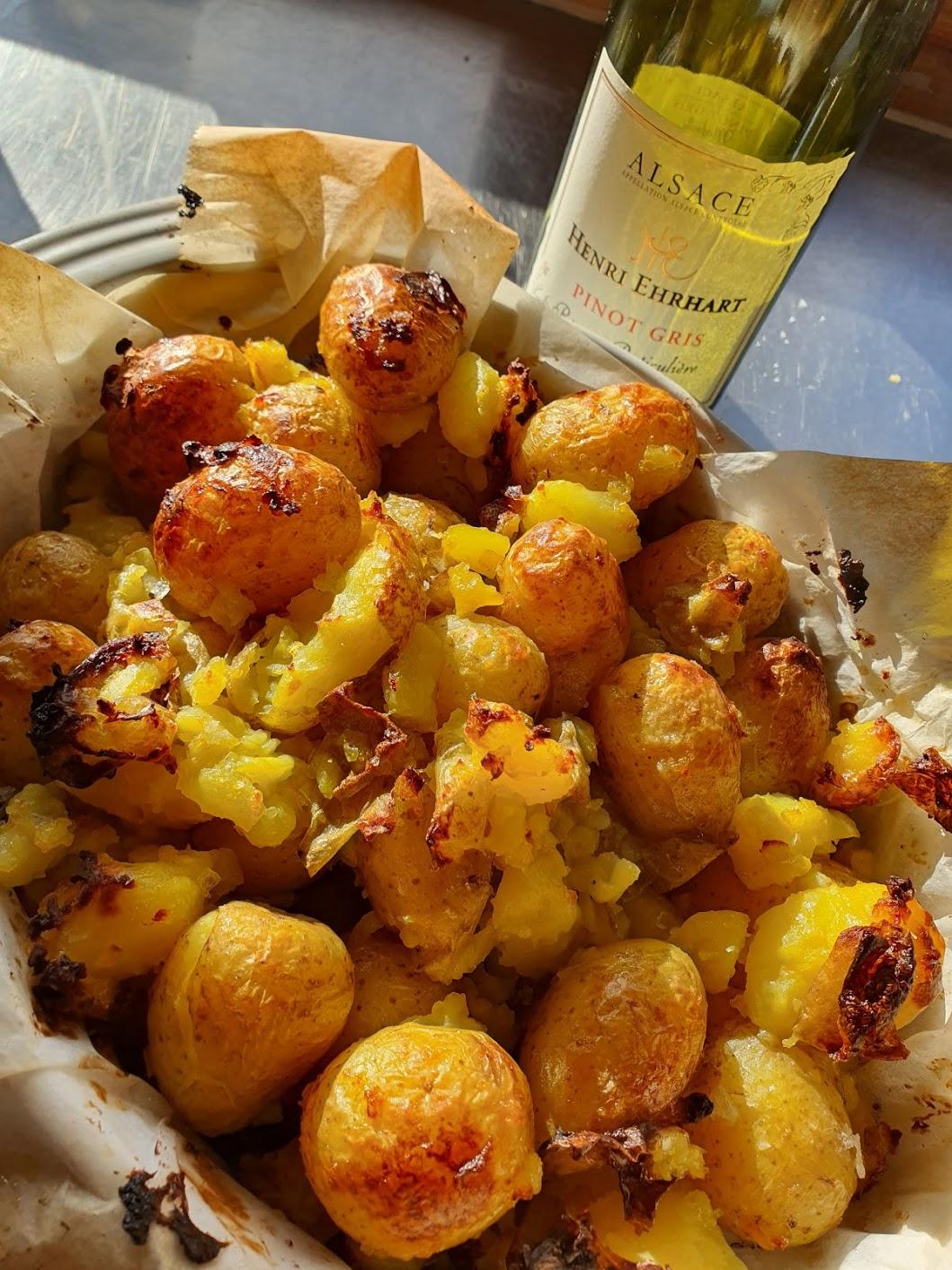 engelske ovnbagte kartofler