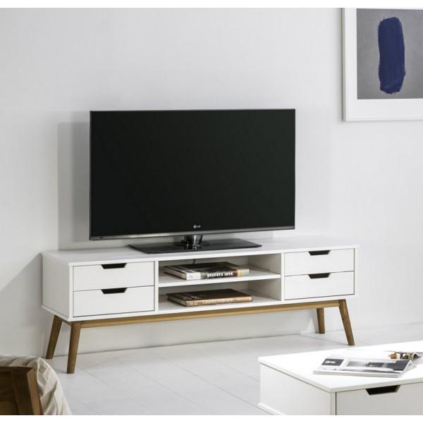 meuble tv orly blanc odesign
